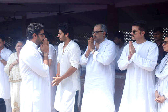 Arjun Kapoor at His Mother Mona Kapoor's Funeral