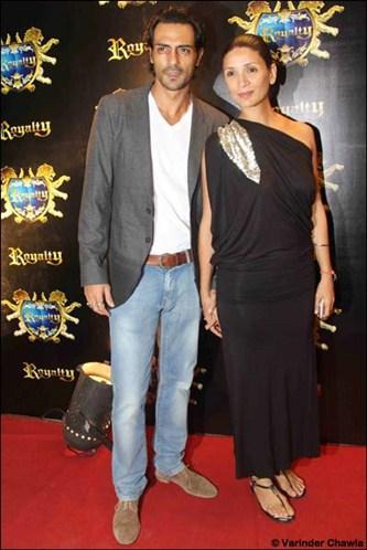 Arjun Rampal,Meher Rampal at Riteish-Genelia's pre-wedding bash