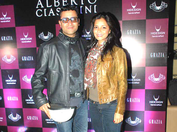 Ash Chandler with wife Junelia Aguiar at the Launch of Hidesign's Luxury Collection