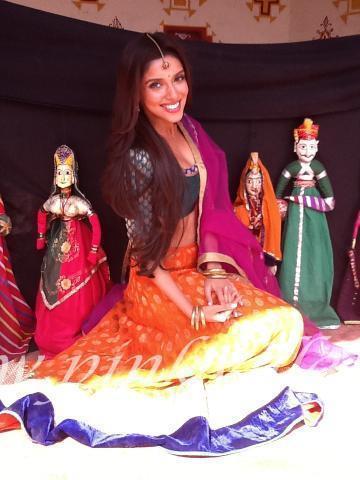 Asin On The Sets of Bol Bachchan at Jaipur