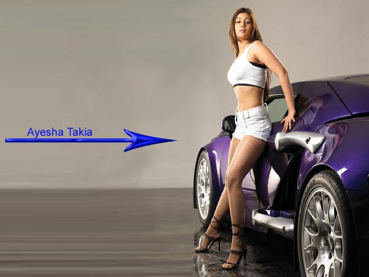 Ayesha Takia Hot Mini Dress Wallpaper