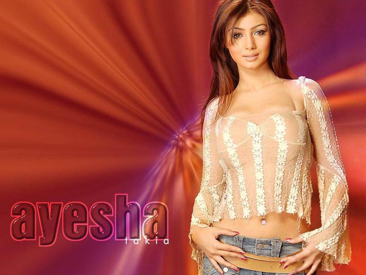 Ayesha Takia Romantic Look Wallpaper