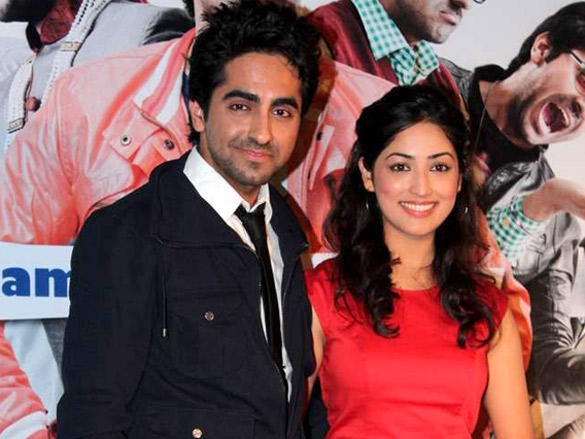 Ayushman and Yami Gautam at The First Look Launch of Their Film Vicky Donor