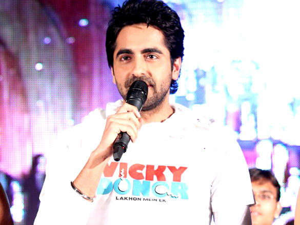 Ayushmann Khurrana at Vicky Donor Promotional Event