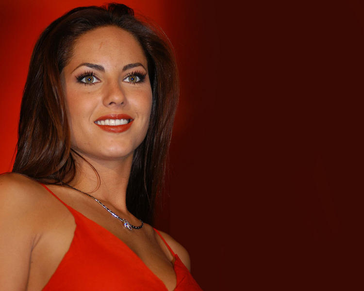 Barbara Mori Red Dress Gorgeous Photo
