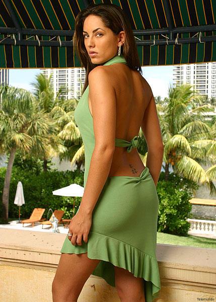 Barbara Mori Sexy Back Exposing Photo Shoot