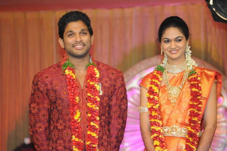 Beautiful Couple Allu Arjun and Sneha Reddy Pic