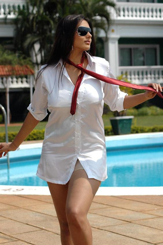 Bhagavan MLA Movie Namitha Hot Still With White Dress