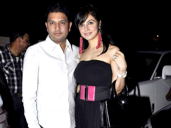 Bhushan Kumar,Divya Khosla Kumar at Agent Vinod Screening at PVR