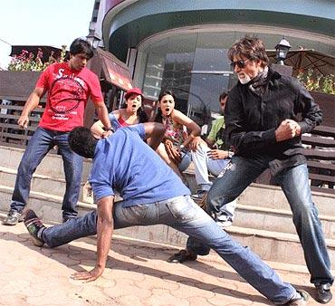 Big B in Action Sequence