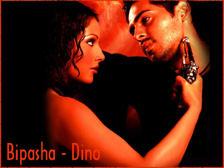 Bipasha Basu and Dino Morea Hot Glamour Wallpaper