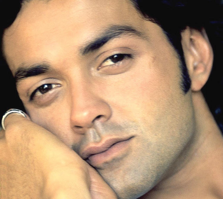 Bobby Deol Sexy Romantic Face Look Wallpaper