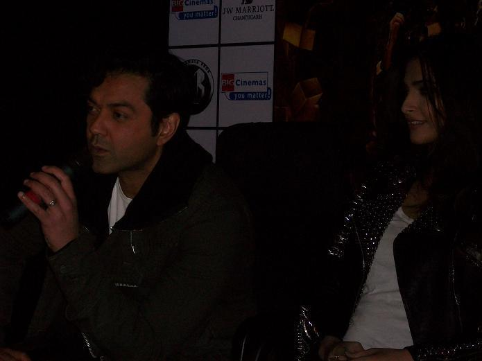 Bobby Deol and Sonam Kapoor in Chandigarh to promote Movie