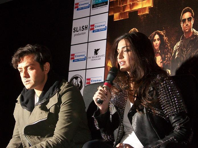 Bobby and Sonam in Chandigarh to promote Movie