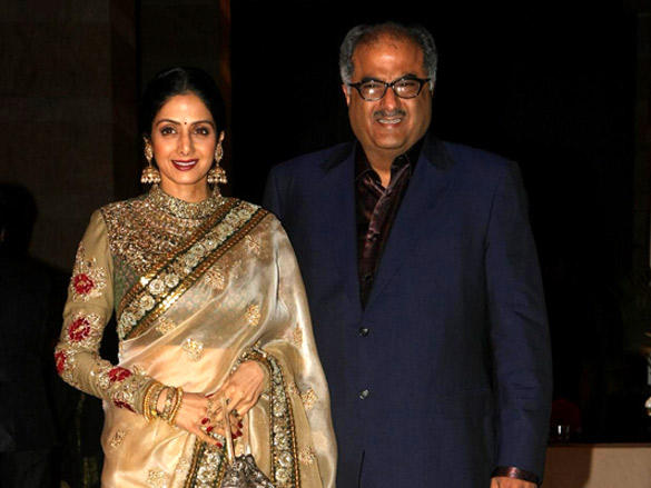 Boney Kapoor,Sridevi at Riteish and Genelia's reception