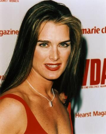 Brooke Shields Red Dress Open Boob Show Glamour Still