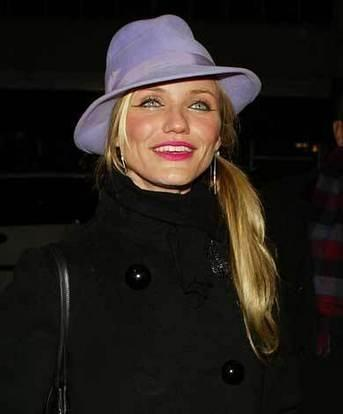 Cameron Diaz Cute Face Look With Hats