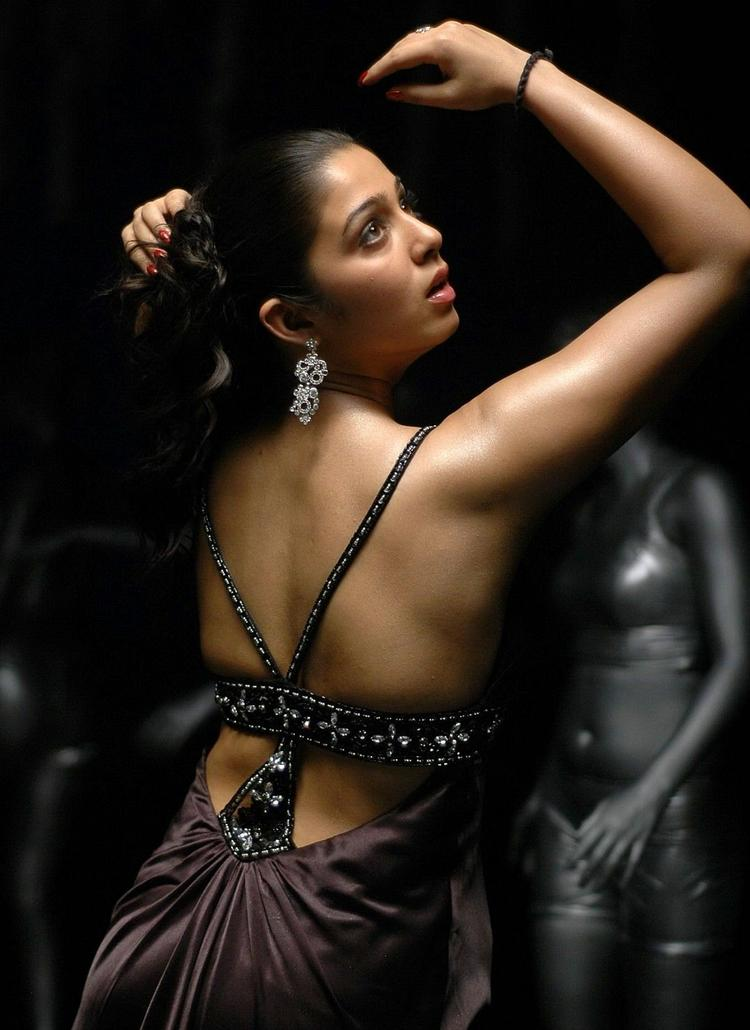 Charmi Kaur Back Bare Dress Hot Still
