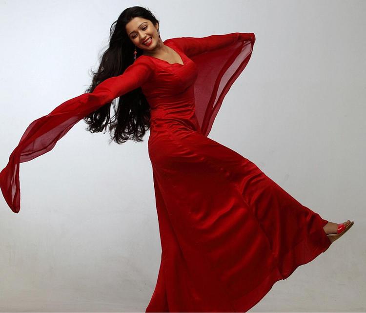 Charmi Kaur Beautiful Red Dress Photo Shoot