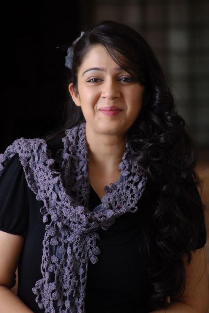Charmi Kaur Cute Smily Face Look
