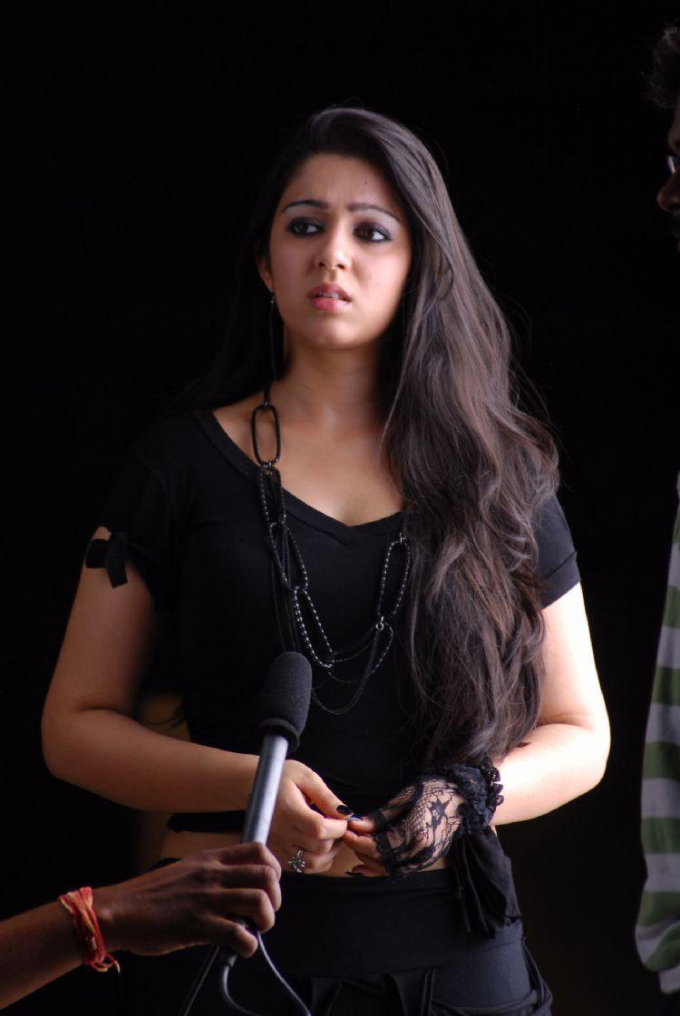 Charmi Kaur Shocked Face Look