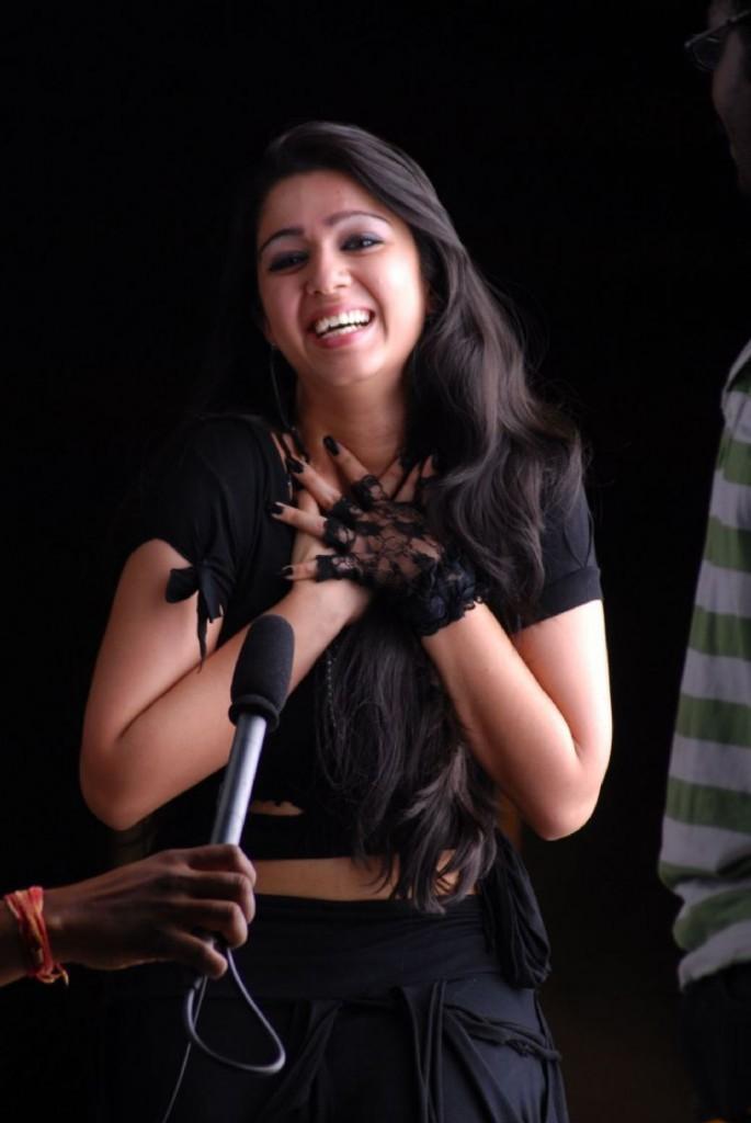Charmi Kaur With Open Smile Still