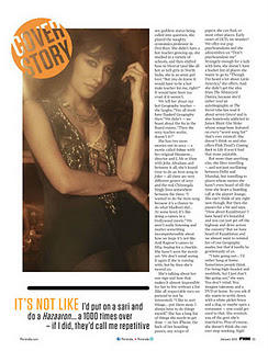 Chitrangada Singh Cover Girl for FHM India January 2012