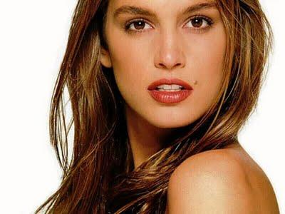 Cindy Crawford Wet Red Lips Pic