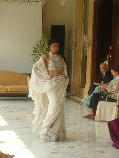 Creme Saree Ritu Beri Latest Still
