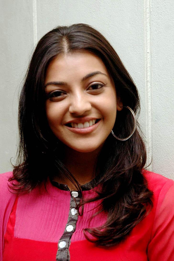 Cute Kajal Agarwal in Red Dress