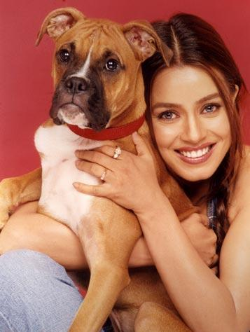 Cute Mahima Chaudhury Wallpaper With Dog