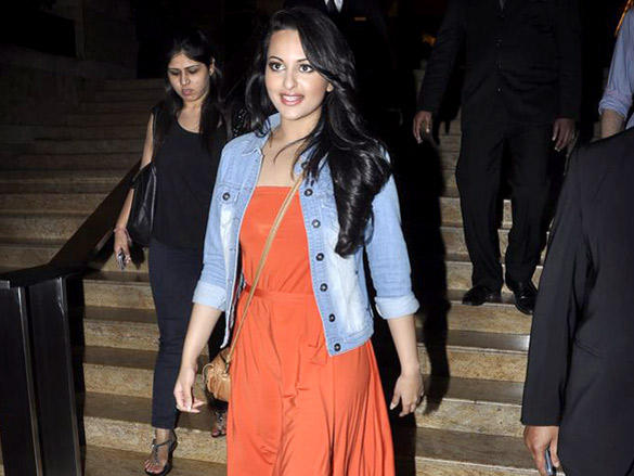 Dabangg  Actress Sonakshi Sinha Snapped at the Grand Hyatt Hotel