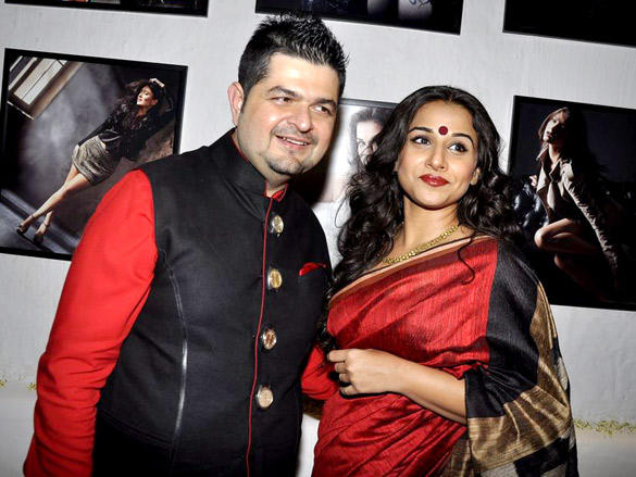 Dabboo Ratnani with Vidya Balan with his 2012 Calendar Launch