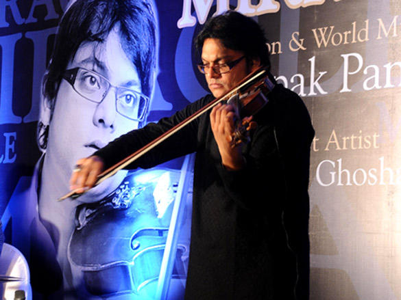 Deepak Pandit performs at launch of his album Miracle