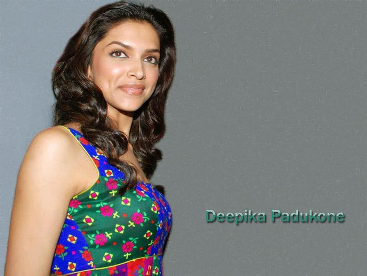 Deepika Padukone Blue Dress Sweet Smile Wallpaper
