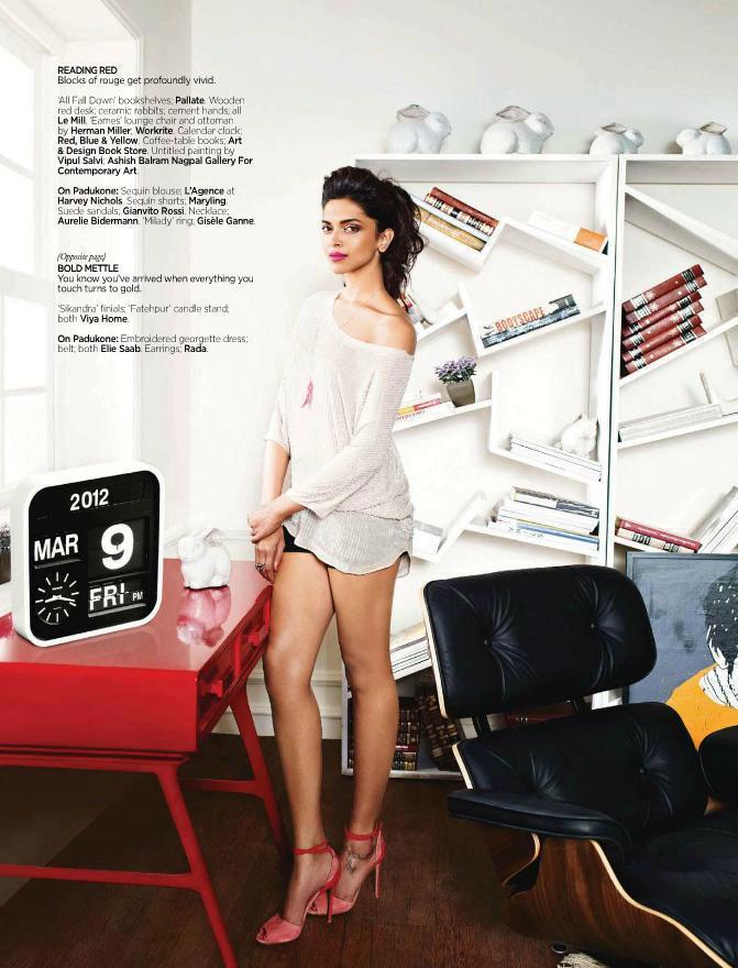 Deepika Padukone Mini Dress Photoshoot For Architectural Digest
