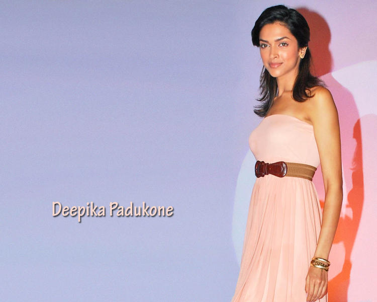 Deepika Padukone Short Hair and Sleeveless Dress Wallapper