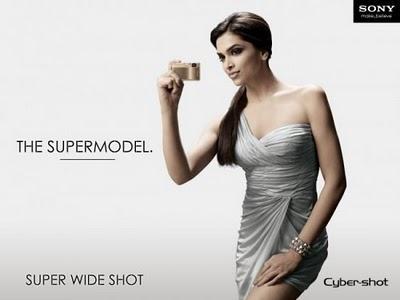 Deepika Padukone Sony Cyber Shot News Paper Ad Photo Shoot