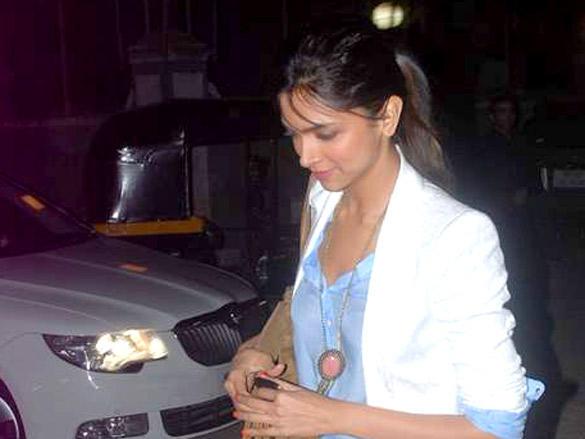 Deepika Padukone Spoted At Bosco Caesar Bash