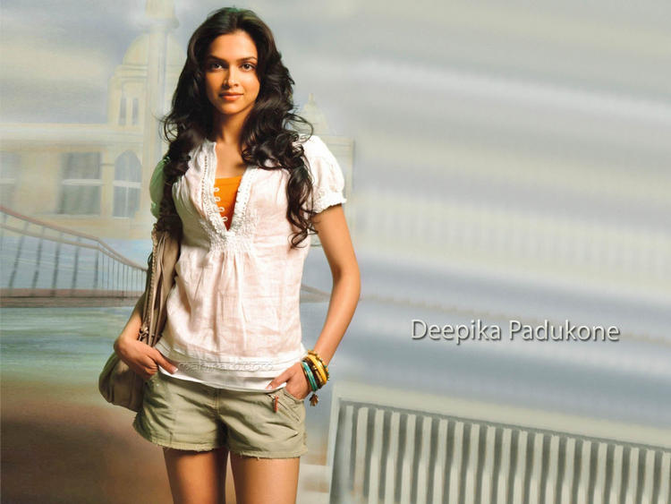 Deepika Padukone White Shirt Gorgeous Wallpaper