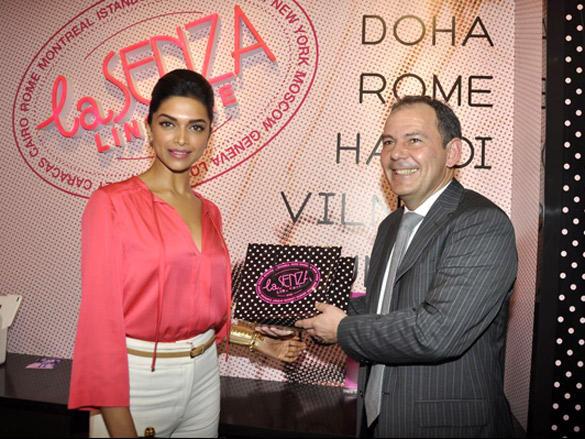 Deepika Padukone at La Senza store inauguration
