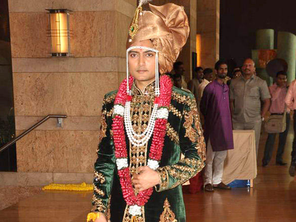 Dheeraj Deshmukh at his wedding reception