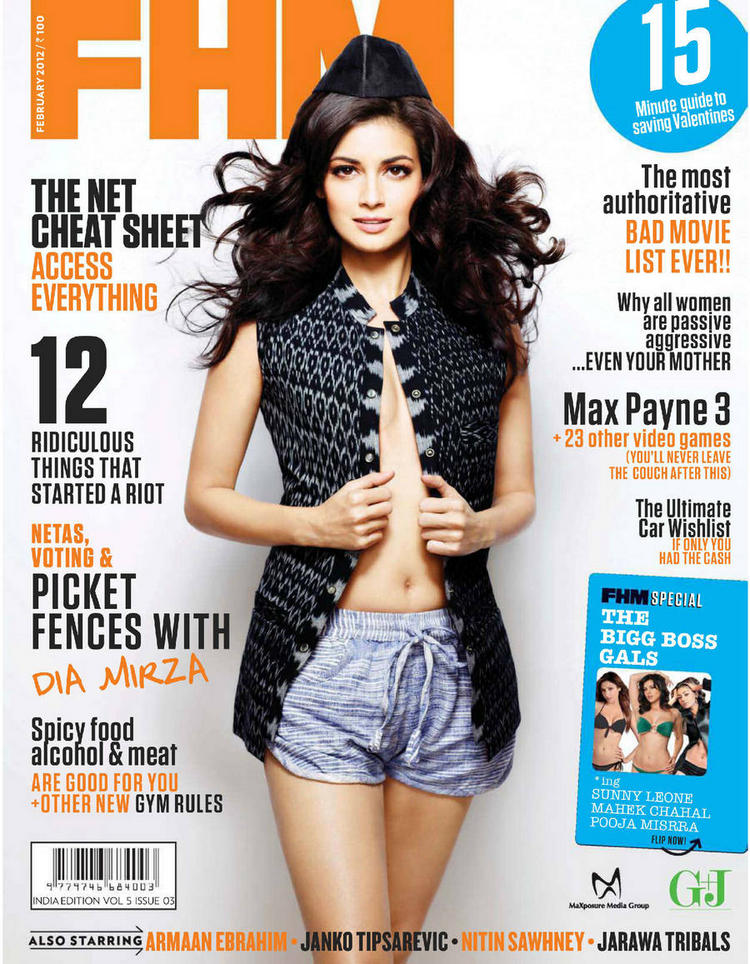 Dia Mirza FHM magazine hot photoshoot