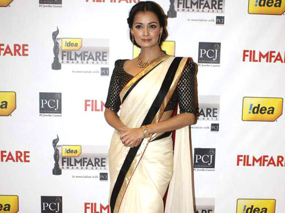 Dia Mirza at 57th Idea Filmfare Awards