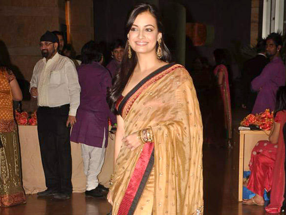 Dia Mirza looking very gorgeous at Honey Bhagnani wedding reception