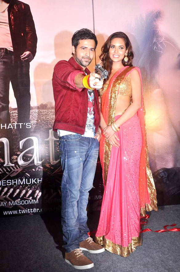 Emraan Hashmi and Esha Gupta at the Audio Launch of the Movie Jannat 2