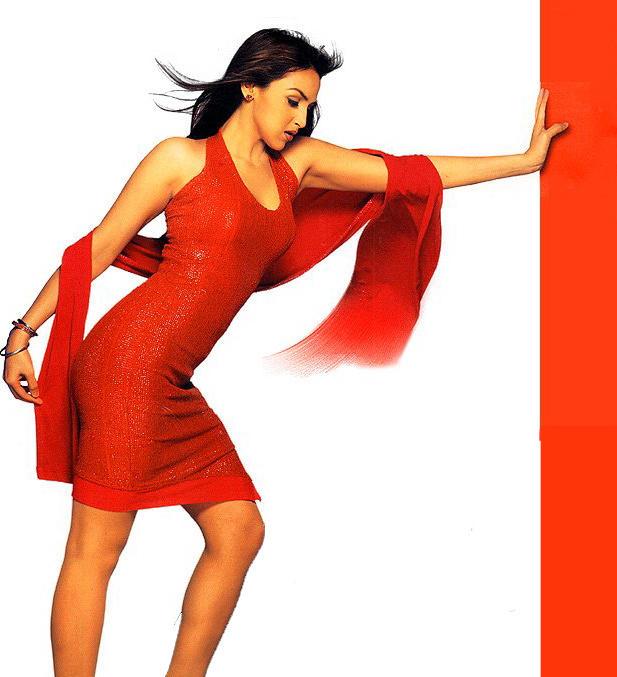 Esha Deol Red Dress Romantic Look Wallpaper