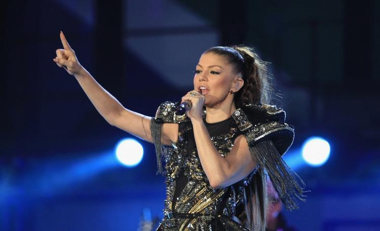 Fergie Rock Performance On Stage