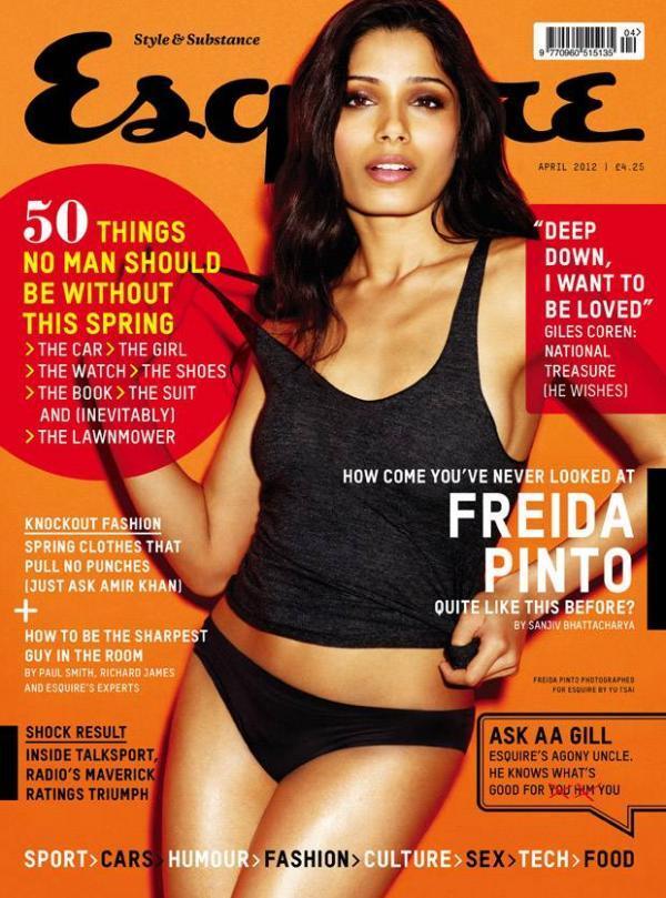Freida Pinto Bikini Magazine Stills