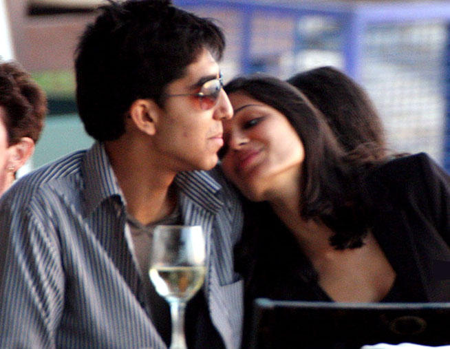 Freida Pinto and Dev Patel Romance Pic